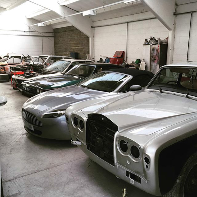 Aston Mart and a Rolls Royce Car Body Repair